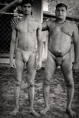 Father and Son (subhadeep mondal2010) Tags: portrait blackandwhite bw india man monochrome canon wrestling portraiture kolkata canonef50mmf18ii kushti 1000d mallickghat aakhara