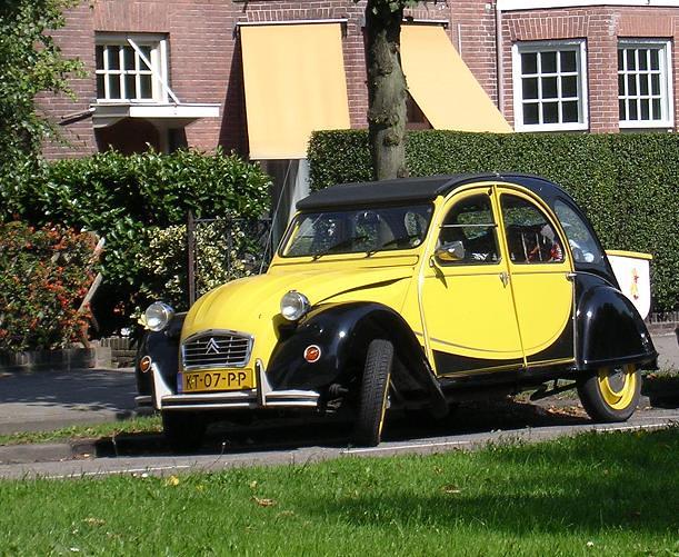 2cv charleston geel zwart