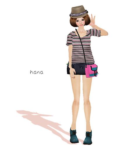 [pivaaca] -Homme- Stripe Shirt *Pink* (Rez or Aattach)