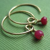 Tiny Ruby Earrings