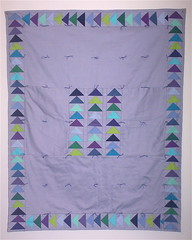 Tied Patchwork Quilt - Cot Sized (ogekko) Tags: quilt tied patchwork scrap machinepieced cotsized