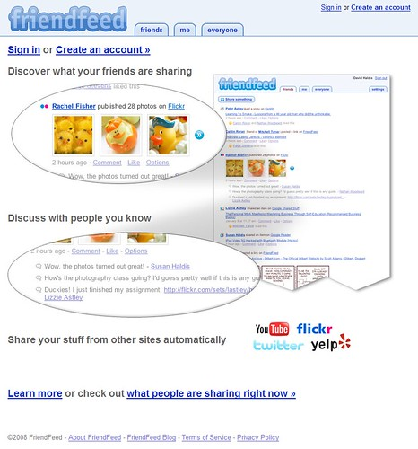 FriendFeed: Public launch today / 2008-02-26 / SML Screenshots (by See-ming Lee 李思明 SML)