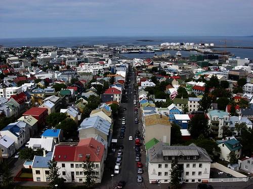 Reykjavik from Hallgrimskirja Church