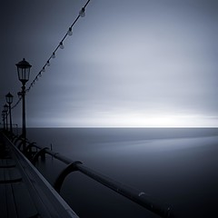 Grey Blue - Eastbourne Pier (Rich Clark | Images) Tags: ocean longexposure blue winter sea england cold beach water grey lights sussex coast pier seaside still horizon rich images calm elements clark eastbourne railings channel eastbournepier sussexcoast sussexphotos sunsetchaser richclark richclarkphotography richclarkimages richclarkvisuals sussexphotography