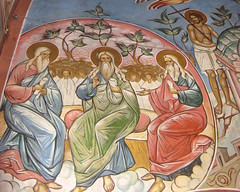 Patriarchs (A Whistling Train) Tags: wall painting good jacob isaac icon abraham holy trinity thief patriarchs jordanville