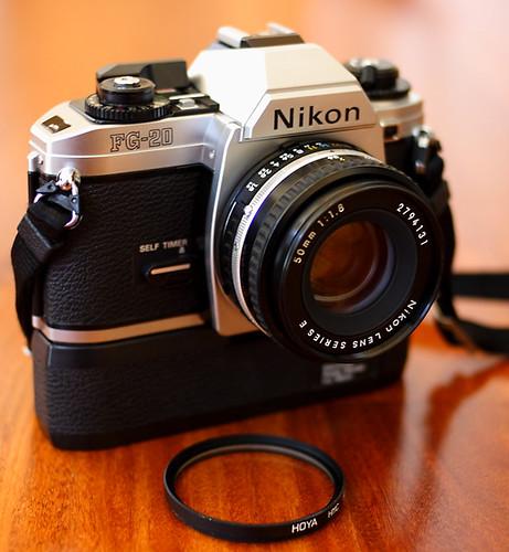 Nikon FG-20 with Motor Drive