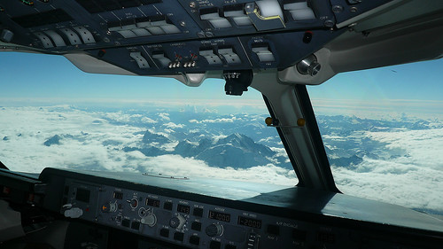 Crossing the Alps towards Turin