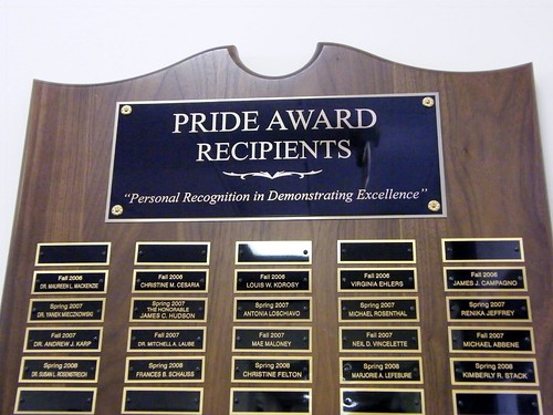 Pride Award Plaque - Detail