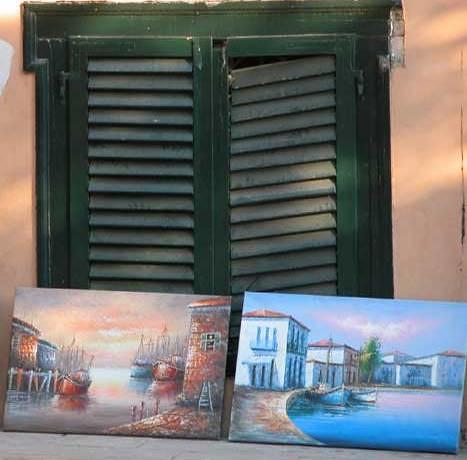 Pinturas en las calles de la Pláka