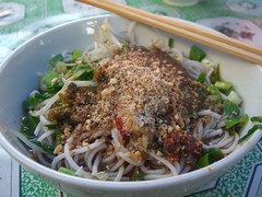凉米线 Rice Noodles with Cold Spicy Garlic Sauce ...