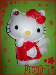 una gatita para una amiguis especial  (PrenD-T) Tags: red cat rouge rojo hellokitty explorer kitty felt feltro manualidades fieltro prendt