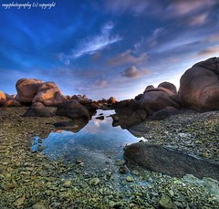 R for Rocks, Reflection, tRansparency and <:-)> (Ragstatic) Tags: rags rags1969 landscape landscapes nikoi nikon d80 relax water rocks blue sky reflection transparency firstquality sunrise sunset seascape sea hdr blending dri city beach morning dawn sun color stockphoto clouds longexposure exposure happy light famous photo photograph singaporelandscape singaporeseascape singaporenightshot nightshot singapore google indonesia travel tourism holiday search stay chalet room rooms island bintan boat
