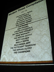the lineup (act.design) Tags: comet moderntimes compilation cdrelease