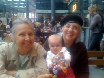 Charlotte with Babu and Grandma