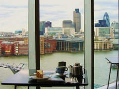 The view from my table at the Tate Modern Cafe, London