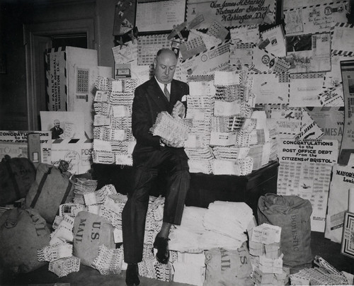 Postmaster General James A. Farley During National Air Mail Week, 1938