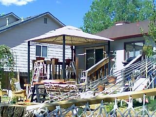 Temp. canopy from the hammock