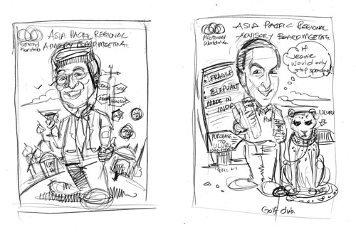 Caricatures of TST and Heuer Mastercard drafts 2