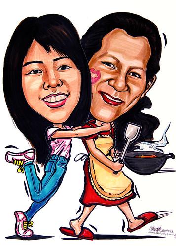 Caricatures I love you Mum