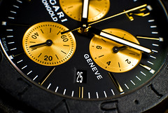 Time Is Money (Fahad Al Nusf) Tags: money macro me digital 50mm gold golden is nikon asia gulf time watch tube middleeast ku arab micro extension kuwait 12mm fahad kw arabiangulf q8 timeismoney bvlgari kwt handwatch   31mm adorama d80 nikon50mm  nikond80 carbongold fenyn fahadalnusf alnusf  adoramaextensiontube