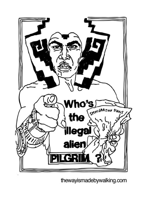 who is the illegal alien pilgrim coloring page