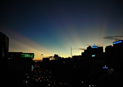 Glimpse of Summer's Heatwaves (Rudy Sempur) Tags: sunset skyscraper indonesia downtown afternoon borneo novotel rayoflight kalimantan balikpapan blueribbonwinner colorfulsunset nightfalls 5photosaday golddragon mywinners abigfave eastborneo platinumphoto goldstaraward iwishidtakenthat damniwishidtakenthat wishitookthat
