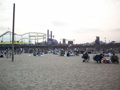 music and the ocean. (adrianna.) Tags: sunset beach santamonica beachfestival