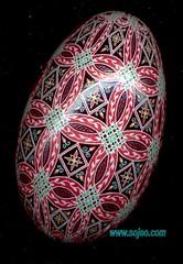 Red Circle Goose anglea (so_jeo) Tags: red art easter egg shell goose batik ukranian pysanka pysanky sojeo wwwsojeocom