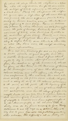 Manuscript of Lincoln's Baltimore Address, ca. April 1864 (p2)