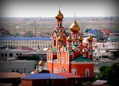 Atyrau Orthodox Church (AgusValenz) Tags: church landscape nikon iglesia christian soviet coolpix centralasia orthodox kazakhstan cristian eurasia ortodoxa atyrau p80