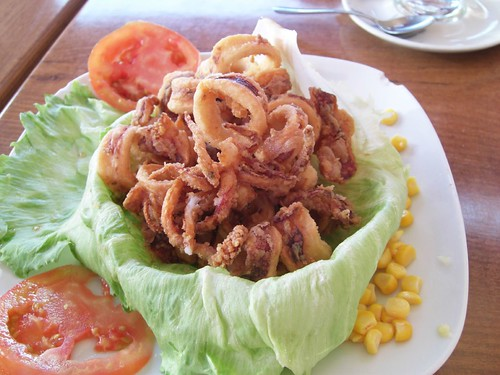 fried calamari across the street from the hypermarket