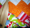 bright patchwork quilt detail