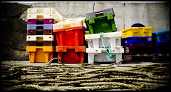 Fisher Price (_NW) Tags: fish colour canon concrete seaside fishing dock harbour rope boxes carry crates multicolour dockside colouredboxes eod350d colourartaward