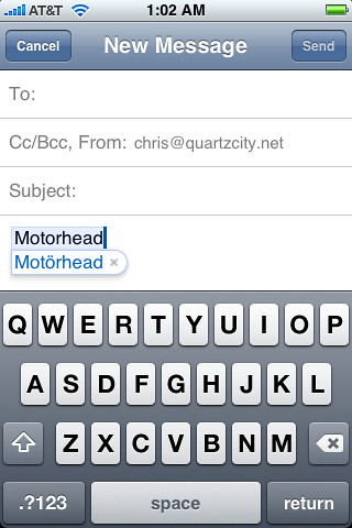 My iPhone knows Motörhead