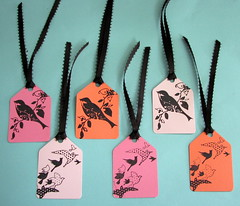 Stamped Bird gift tags (by glamourfae)