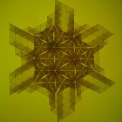 Circle of Hexagons Backlight Front (Yureiko) Tags: paper origami papier tessellation paperfolding melina hermsen papierfalten yureiko