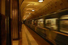 Moscow Metro, Art Deco (Mark Tindale) Tags: russia subway underground commuter transport moscow public