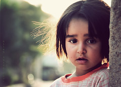 (Alieh) Tags: portrait sunlight girl wonder persian quiet child iran innocent young iranian backlit awe  esfahan isfahan   mojen   aliehs alieh    themagicof18200d