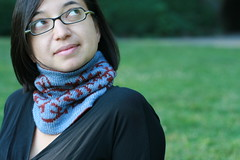 tapestry cowl - photo by pepperknit