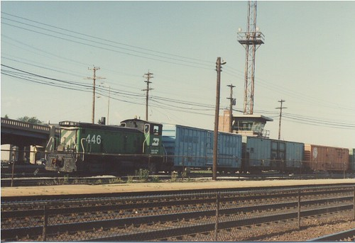 Morning switching activity at the Burlington Northern RR Clyde Yard. Cicero Illinois. June 1985. by Eddie from Chicago