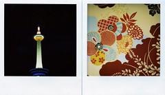 (deader than yesterday) Tags: film japan analog sx70 diptych kyoto   kanazawa  kyototower michaellin polaroidsx70  peoplesgallery  floralpattern 21 21stcenturymuseumofcontemporaryart  21  seaniap