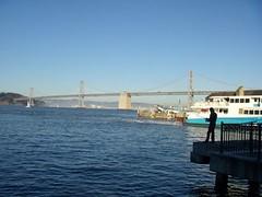 Oakland Bay Bridge (MoreThanTheClash) Tags: sanfrancisco bridge pier fishing fisherman oaklandbaybridge