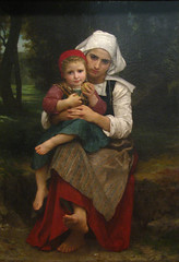Breton Brother and Sister, 1871 (Maulleigh) Tags: new york art museum sister brother met metropolitan metropolitanmuseum bouguereau breton 1871 williamadolphe
