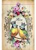 The Love Birds - Vintage Paper Collage (ms_mod) Tags: pink roses bird art love collage digital vintage paper print design aqua antique mixedmedia victorian ephemera tintype crown etsy baroque dollface victorianscrap dollfacedesign