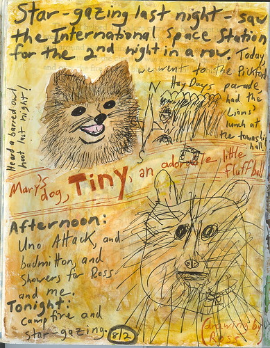 Tiny's journal page