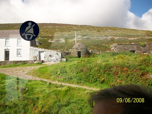 Ireland -  from Dingle to Slea Head - bee hive huts