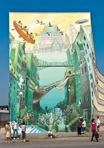 La fresque La Cité idéale de Québec
