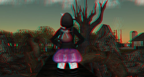 3D Stereo Viewer Second Life - Vint at Darklands Cemetery