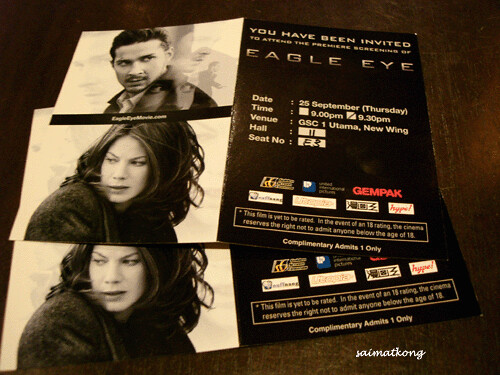 Eagle Eye Premiere Tickets