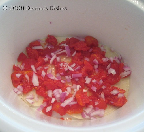 Slow Cooker Mexican Stack Up: Red Onion